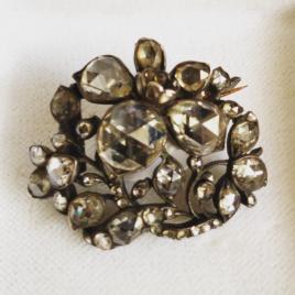de Schatkamer 18th century rose cut diamond brooch de Schatkamer 18th century rose cut diamond brooch