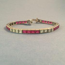 Diamond-and-ruby-tennis-bracelet