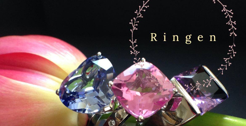 Ringen met gekleurde edelstenen De Schatkamer